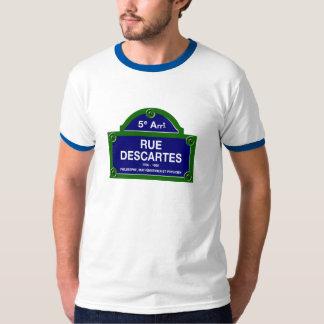 Rue Descartes, Paris Street Sign Tee Shirts