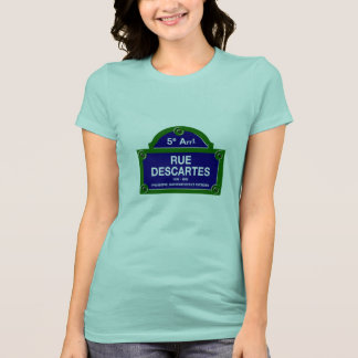 Rue Descartes, Paris Street Sign Tshirt