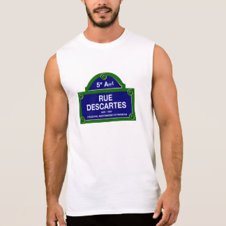 Rue Descartes, Paris Street Sign Sleeveless Shirt
