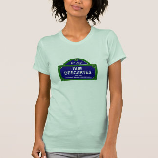 Rue Descartes, Paris Street Sign T-shirt