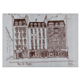 Rue du Dragon, Saint-Germain-des-Pres, Paris Cutting Board