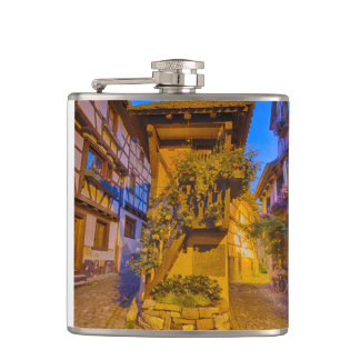 Rue du Rempart-Sud rue l'Allemand-Sud iEguisheim Hip Flask