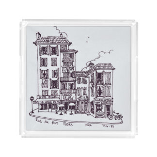 Rue du Vieux Port in Old Nice | Nice, France Acrylic Tray