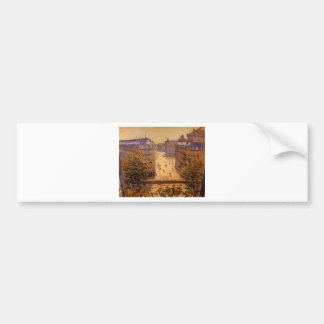 Rue Halevy, Balcony View by Gustave Caillebotte Bumper Sticker