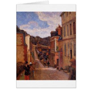 Rue Jouvenet, Rouen by Paul Gauguin Card