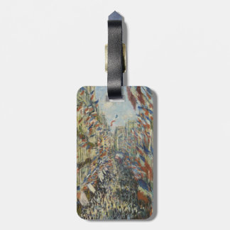 Rue Montorgueil in Paris by Claude Monet Luggage Tag