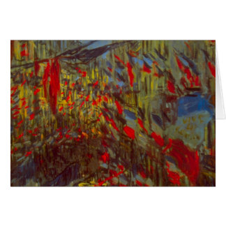 Rue Montorgueil with Flags by Claude Monet Card