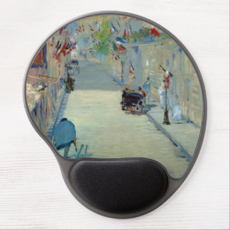 Rue Mosnier with Flags Manet Painting Mousepad