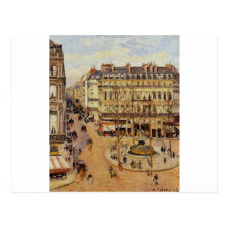 Rue Saint Honore Morning Sun Effect, Place Postcard