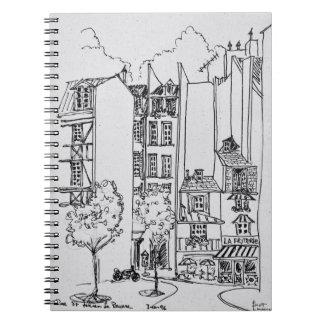 Rue Saint-Julien-le-Pauvre | Paris, France Spiral Notebook