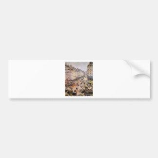 Rue Saint Lazare by Camille Pissarro Bumper Sticker
