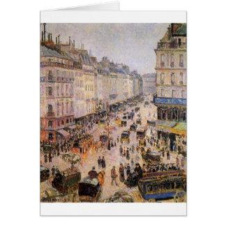 Rue Saint Lazare by Camille Pissarro Card