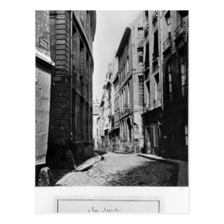 Rue Serpente, Paris, 1858-78 Postcard