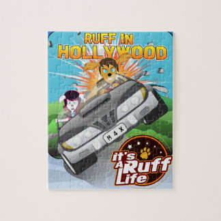 Ruff In Hollywood 8 x 10 Puzzle