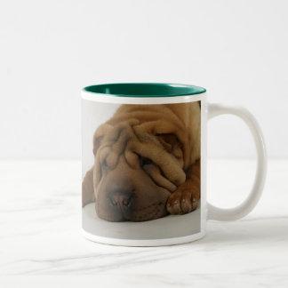 Ruff Morning Two-Tone Coffee Mug
