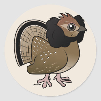 Ruffed Grouse Classic Round Sticker
