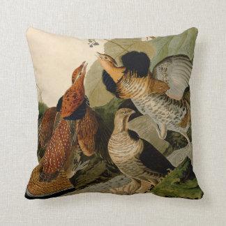 Ruffed Grouse Game Bird Audubon Throw Pillow