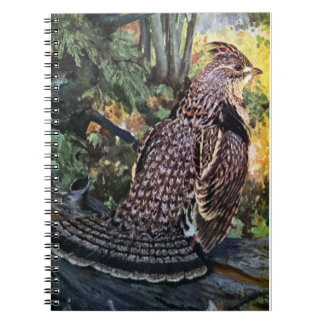Ruffed Grouse in the Forest Notebook