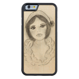 Ruffled Flapper Girl Carved Maple iPhone 6 Bumper Case