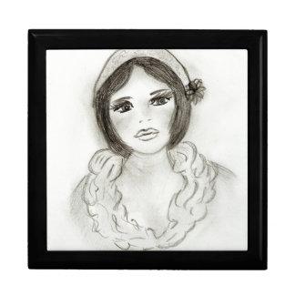 Ruffled Flapper Girl Gift Box