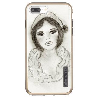 Ruffled Flapper Girl Incipio DualPro Shine iPhone 8 Plus/7 Plus Case