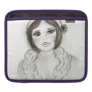 Ruffled Flapper Girl iPad Sleeve