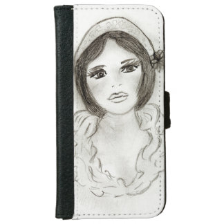 Ruffled Flapper Girl iPhone 6 Wallet Case
