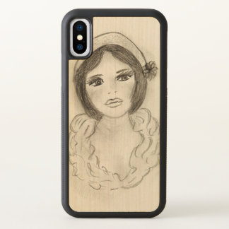 Ruffled Flapper Girl iPhone X Case