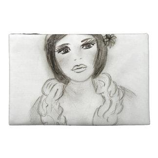 Ruffled Flapper Girl Travel Accessory Bag