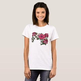 Ruffled Petunia Vine Pink Floral T-Shirt