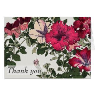 Ruffled Petunias Thank You Card