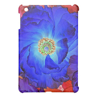 Ruffles Blue Poppy Art iPad Mini Case