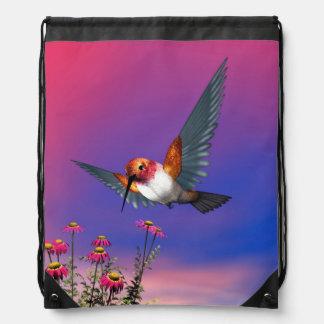 Rufous hummingbird - 3D render Drawstring Bag