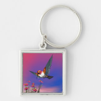 Rufous hummingbird - 3D render Key Ring