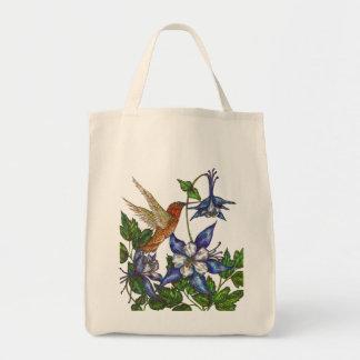 Rufous Hummingbird with Columbines Tote Bag