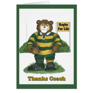 Rugby #1 Coach Card