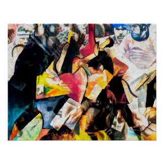 Rugby Action - Art On Canvas Print