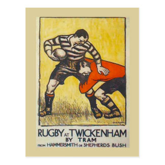 Rugby at Twickenham by tram from Hammersmith Postcard