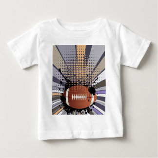 Rugby Ball on Rays Background Baby T-Shirt