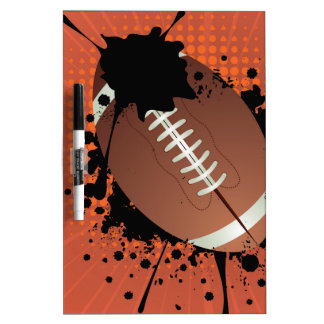 Rugby Ball on Rays Background Dry-Erase Boards