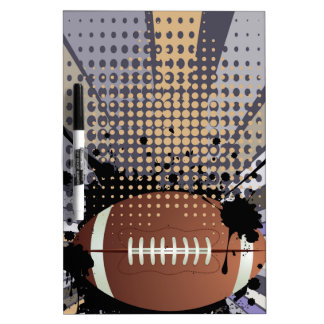 Rugby Ball on Rays Background Dry Erase White Board