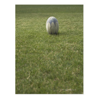Rugby ball postcard