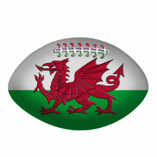 Rugby Ball Wales Flag Ornament Photo Sculpture Decoration