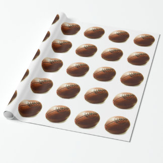 Rugby Ball Wrapping Paper
