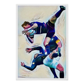 Rugby Ballet Watercolour Print
