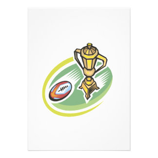 Rugby Champion 2 Personalized Invitation