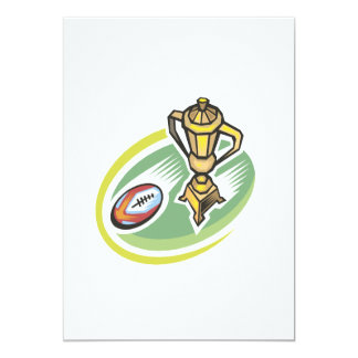 "Rugby Champion 2 5"" X 7"" Invitation Card"