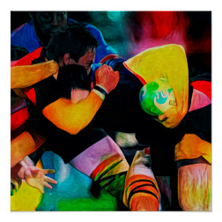 Rugby Composition - Art On Canvas Print