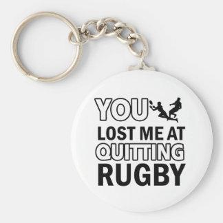 Rugby designs key ring
