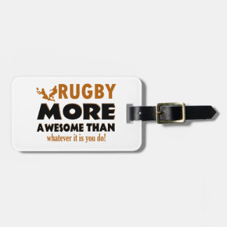 Rugby designs luggage tag